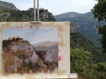 Provence pastel painting