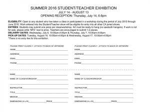 Student-Teacher Show Prospectus 2016 copy
