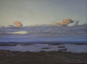 ROY PERKINSON, Clouds Over Frenchman Bay, Oil on canvas, 30 x 40 inches, $3,650