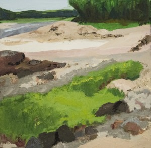FAY LAMSON HANNON, Low Tide at the Little River, Oil on board, 20 x 20 inches, $900