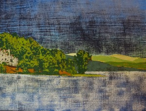 DAVID COVER, Champlain, Acrylic on canvas, 18 x 24 inches, $950