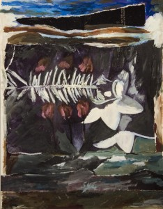 SOPHIA YEE, The Meal, Oil on constructed paper, 15 x 12 inches, $1,500