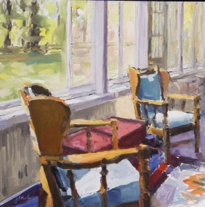 JEANINE SOBELL PASATORE, Time Holding Still: My Family's Cottage #10, Oil on cradled birch panel, 18 x 18 inches, $2,400