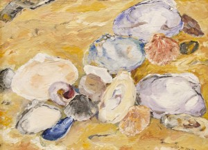 MONICA McALPINE, Scattered Sea Shells #1, Acrylic, 11 x 14 inches, $250