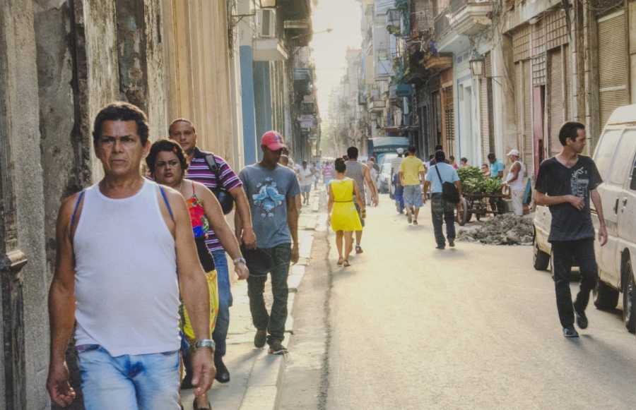 RICHARD PERRY, Busy Street In Cuba, photography archival inkjet; 14 x 21 inches, $400