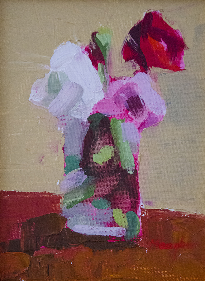 JUDITH EVANS MEAGHER, Bouquet, Oil, 8 x 6 inches, $450