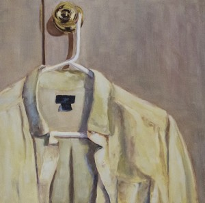 LAURIE J. MILLER, Button Down, Oil on canvas, 20 x20 inches, $650