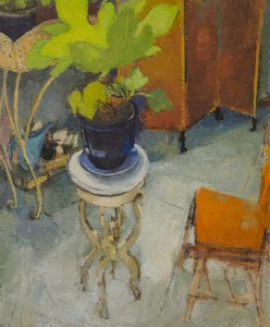 MEREDITH FIFE DAY, Fig Leaves Answering the Light, Oil on panel, 22 x 18 inches, $1200