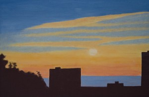 PHILIP KELSEY, Out My Window, Oil on canvas, 24 x 36 inches, $2000