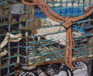 JANET WOLAHAN, Trap, Oil on canvas, 24 x 30 inches, $2500