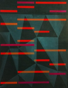 MARINA THOMPSON, Linear Observations; Oil, beeswax and ink on hot press paper; 20 x 16 inches, $950