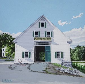 LINDA HEFNER, Monument Street, Acrylic on board, 11 x 11 inches, $875