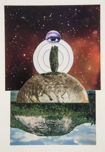 WENDY GONICK, Eye Land, Collage, 9 x 6 inches, $800