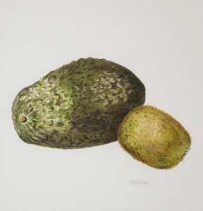 CATHY COLLINS, Textures on Green, Colored pencil, 6 x 6 inches, $150