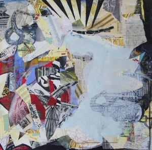ADRIENNE SHISHKO, Looking for the Light, Mixed media on canvas, 30 x 30 inches, $1,400