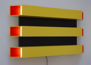 CARMINE SACCARDO, Untitled 2; Painted aluminum, acrylic, LED, 20 x 36 inches, $3,200
