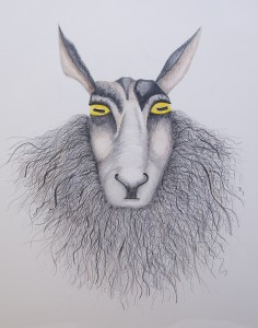 CONNIE SAEMS, Keeper of My Secrets: Sheep; Graphite, colored pencil; 30 x 22 inches; $1,250