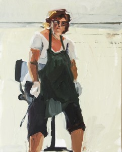 MARSHA M. GLEASON, Garage Painter, Oil on paper; 20 x 16 inches, $800