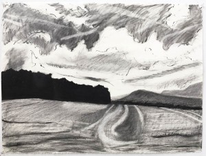 BARBARA GORDON, Mullen Hill 2, Charcoal; 22 x 30 inches, $900