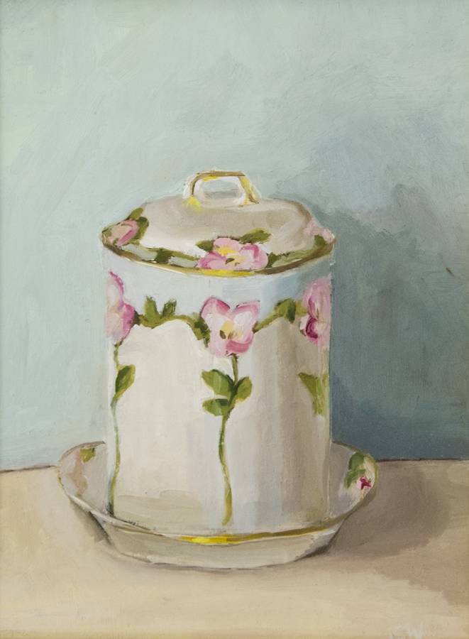 COLLEEN WHITE, Jelly Jar, Oil on paper; 8.5 x 6.5 inches, $300