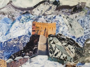 JOHN M. WILLIAMS, The Great Wall of China, Collage; 27 x 32.5 inches, $2,800