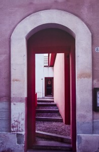 DOROTHY PILLA,  Doorway in Pink, Digital image on aluminum;  20 x 13 inches, $520