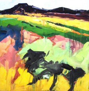 Katherine Downey Miller Santa Fe II Oil on canvas; 30 x 30 inches $4,500