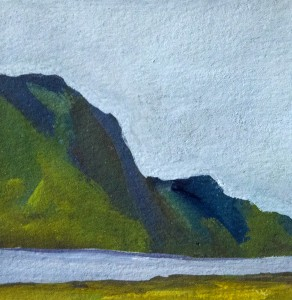 Kimberly Haverstock Achill Island Gouache; 4 x 4 inches $500