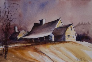 STEVEN FOOTE, Enduring Strength, Watercolor; 8 x 11 inches, $350