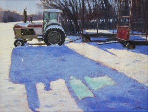 DAVE KAPHAMMER, Tractor in the Snow, Pastel; 18 x 24 inches, $2,100
