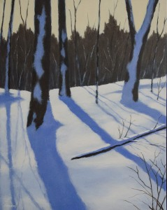 DAVID ANDREWS, Winter Light, Acrylic; 16 x 20 inches, $700