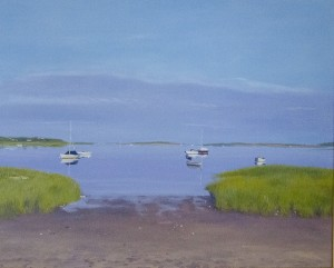 HILARY BALDWIN, In the Bay, Oil; 20 x 24 inches, $2,995