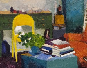 MEREDITH FIFE DAY Reading Corner Acrylic on panel; 8 x 10 inches