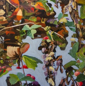 LAURIE SIMKO Fall Life #2 Oil on panel; 32 x 32 inches