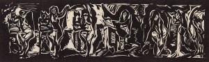 Anthony Pilla	 Body Language	 Woodcut; 7 x 22 inches