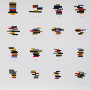 Pete Curran	 Variations on a Theme (Found LEGOs) Archival inkjet; 20 x 20 inches
