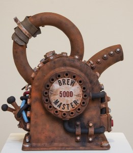 John Brickels Tromp l'oeil Teapot Stoneware clay, paint; 18 x 10 x 15 inches