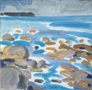 CHARLES SHURCLIFF, Steep Hill Beach Acrylic; 13 x 13 inches; $500