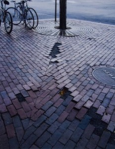 JUDITH CLAPP  Bikes and Brick Photograph, inkjet paper, 14 x 11 inches $200