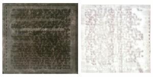 MARK KOSTMAN Visible Sound Monoprint; 17 x 30 inches $2000