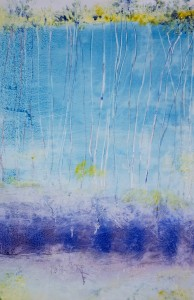 DEBORAH MILLER Water Dream/ Emergent Monotype on Yupo with oil & ink; 36 x 24 inches $1800