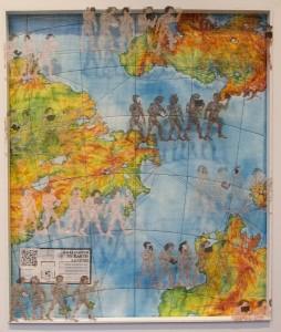 SUSAN V. POLANSKY  Writings on the Wall Mixed media; 37 x 32 inches $1200