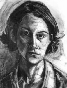 JULES ELLISON, Julia, charcoal on paper; 20 x 16 inches, $700