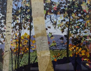LEONARD A. HAUG, Obstructed View, Paper mosaic; 34 x 42 inches, $6,000