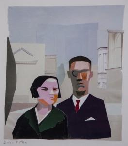 DORON PUTKA, Grandparents, collage w/paper; 10 x 8.5 inches, $550