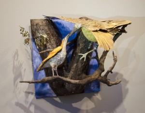 BARBARA FLETCHER. Bird Talk Paper, Paper clay; 20 x 18 inches; $400