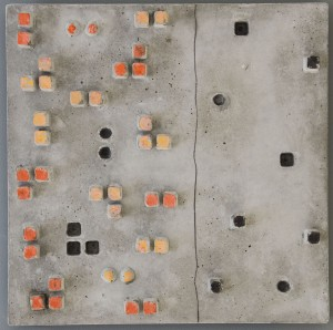 EUGENIE LEWAISKI BERG, Ones, Twos or Threes Concrete, Oil pastel, graphite; 16 x 16 inches; $1,500