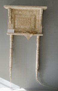 LORRAINE SULLIVAN, Home Made Vintage linens, found objects; 58 x 15 inches; $6,000