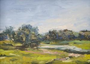 ROBIN M. DAVIS, Essex I Oil on panel; 5 x 7 inches; $130