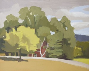 KELLEY HARWOOD, Bennington, VT Oil on paper mounted on panel; 8 x 10 inches; $750